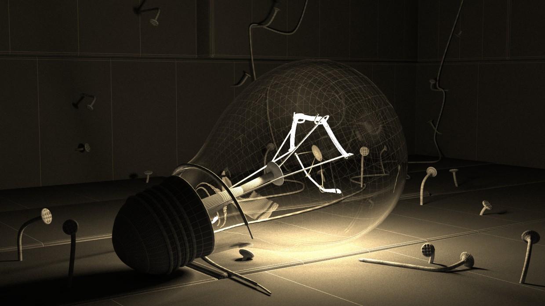 Magic lamp  in  3d max   vray  image