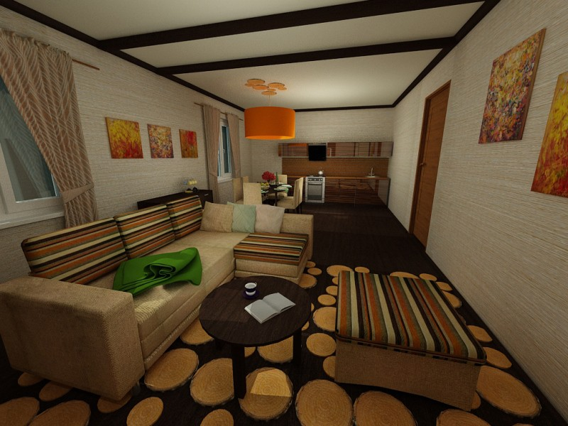Guesthouse Arhyz in 3d max vray image