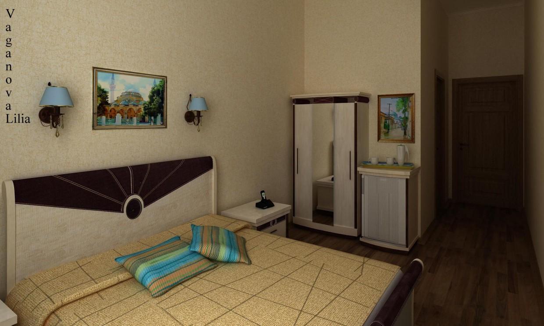 Готельний номер в 3d max vray зображення