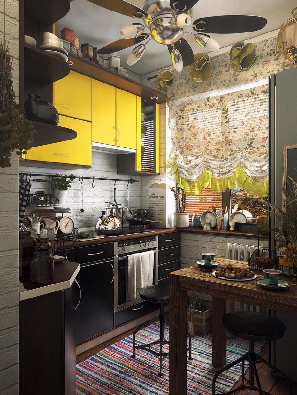 Маленька кухня в 3d max vray зображення