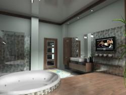 Ванна кімната в котеджі в 2-х варіантах