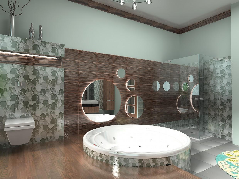 imagen de Cuarto de baño en una casa de campo en 2 versiones en 3d max vray