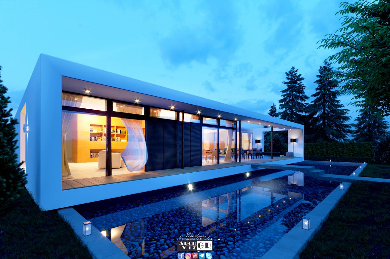 Big house in 3d max corona render image