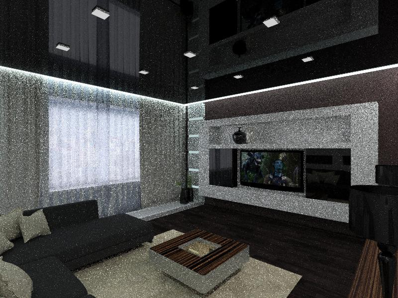 3d visualization of the project in the Living room 3d max, render vray of ленаrtyn