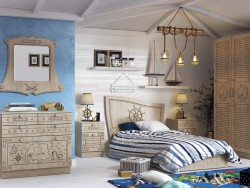 Children's room with a sea theme
