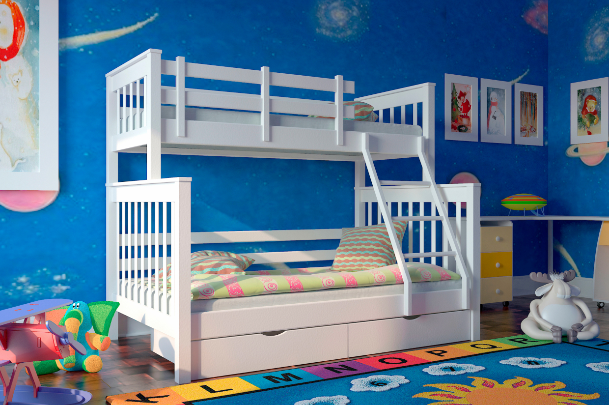 Children's 2-story bed in 3d max vray 3.0 image