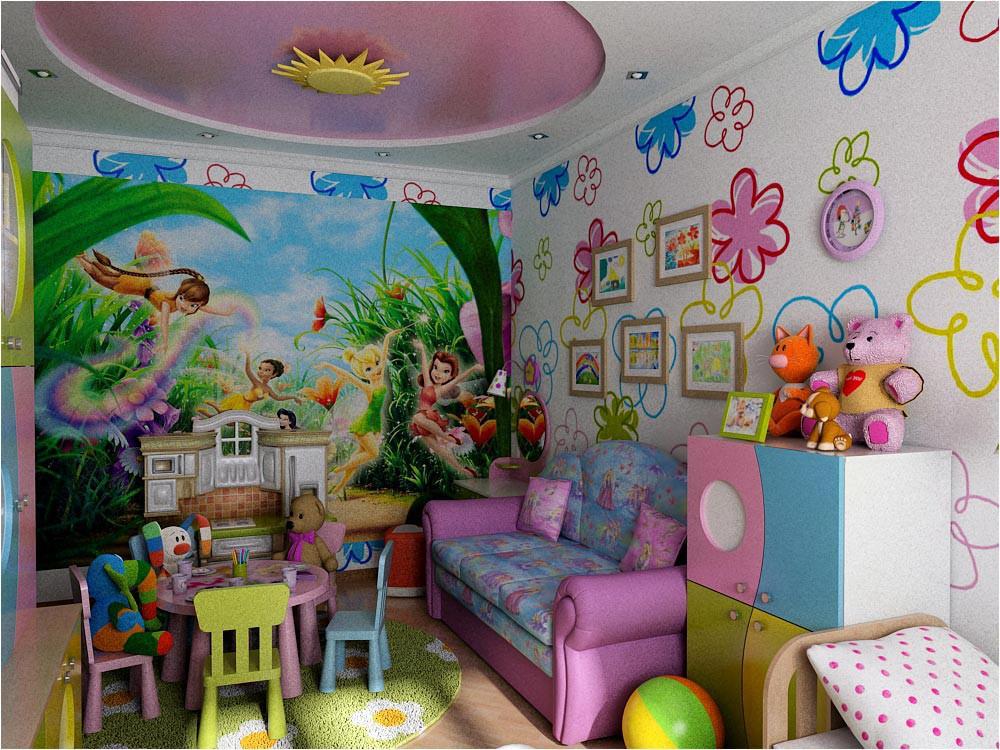 Дизайн интерьера детской комнаты в 3d max vray изображение
