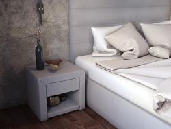 """बिस्तर और बेडसाइड टेबल """"ओपल"""""""