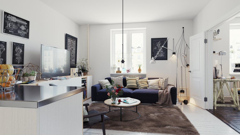 Room Kitchen in 3d max corona render image