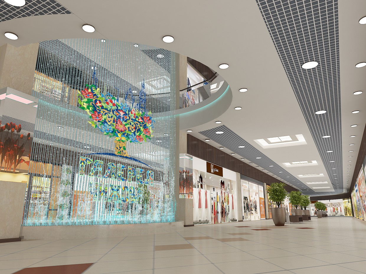 Plaza interior in 3d max vray image