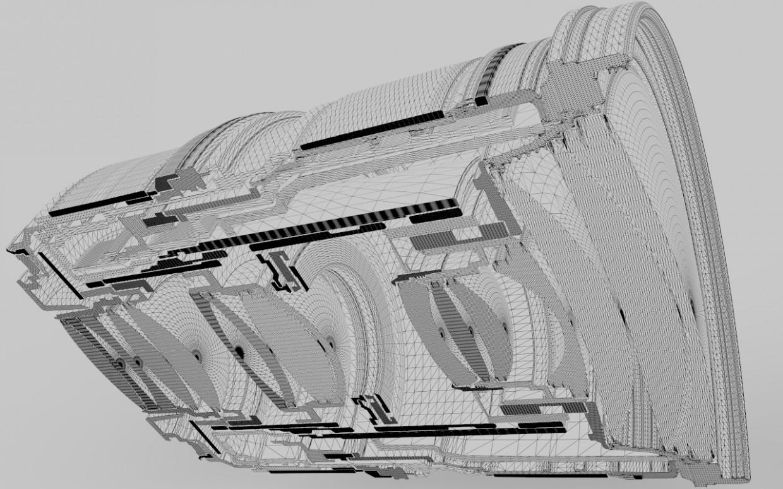 Обьектив canon в разрезе в Maya vray изображение