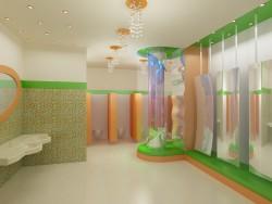 WC एक शॉपिंग सेंटर में बच्चों के लिए