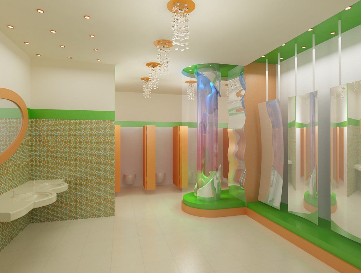 3d visualization of the project in the WC for children in a shopping centre 3d max, render vray of Полина Ходина