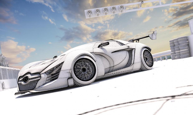 Lada Next in 3d max corona render image