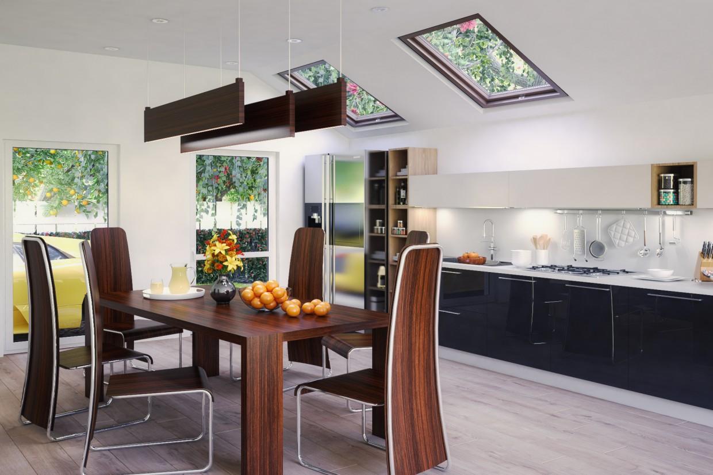 Visualizzazione 3D del progetto Cucina nel , rendere vray di black cop