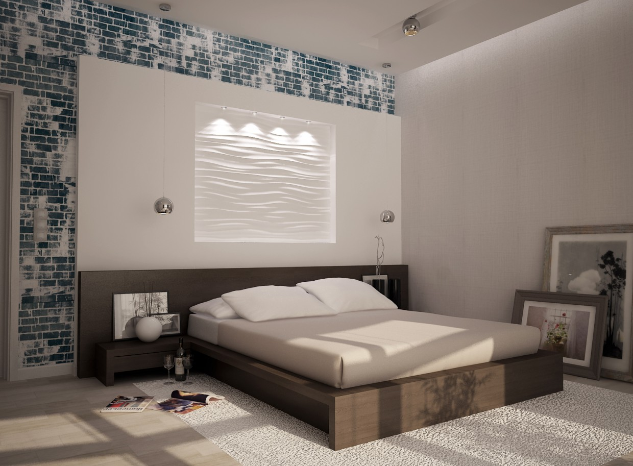 bedroom in 3d max vray 2.0 image