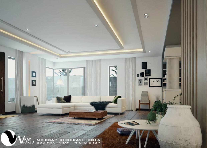 Гостиная в 3d max vray 3.0 изображение