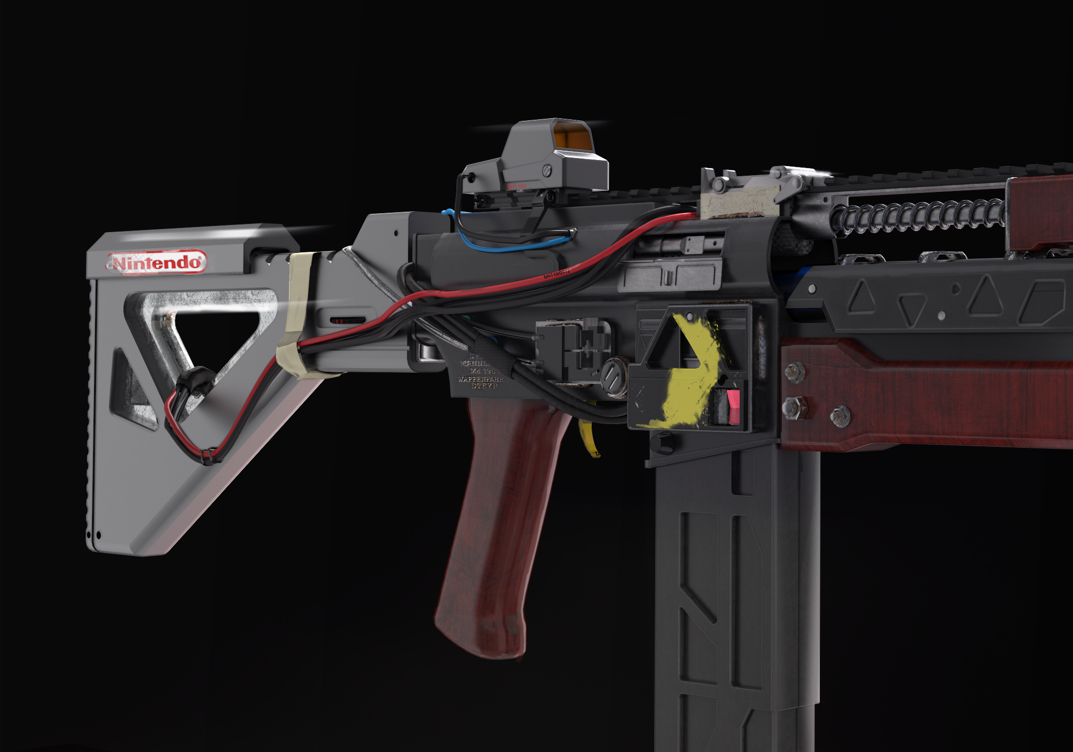 3d visualization of the project in the weapon cyberpunk 3d max, render Other of marko0306
