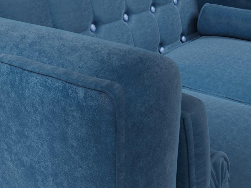 मखमली सोफा 3d max corona render में प्रस्तुत छवि