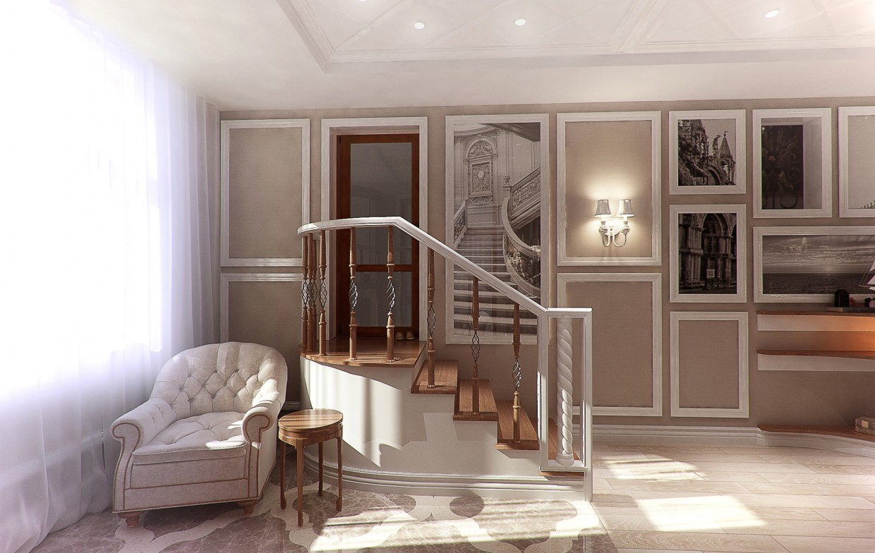 Balcony. 2 options in 3d max vray image