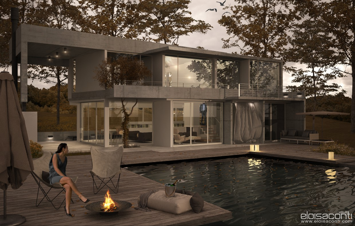Fresno House reloaded... in Cinema 4d vray image
