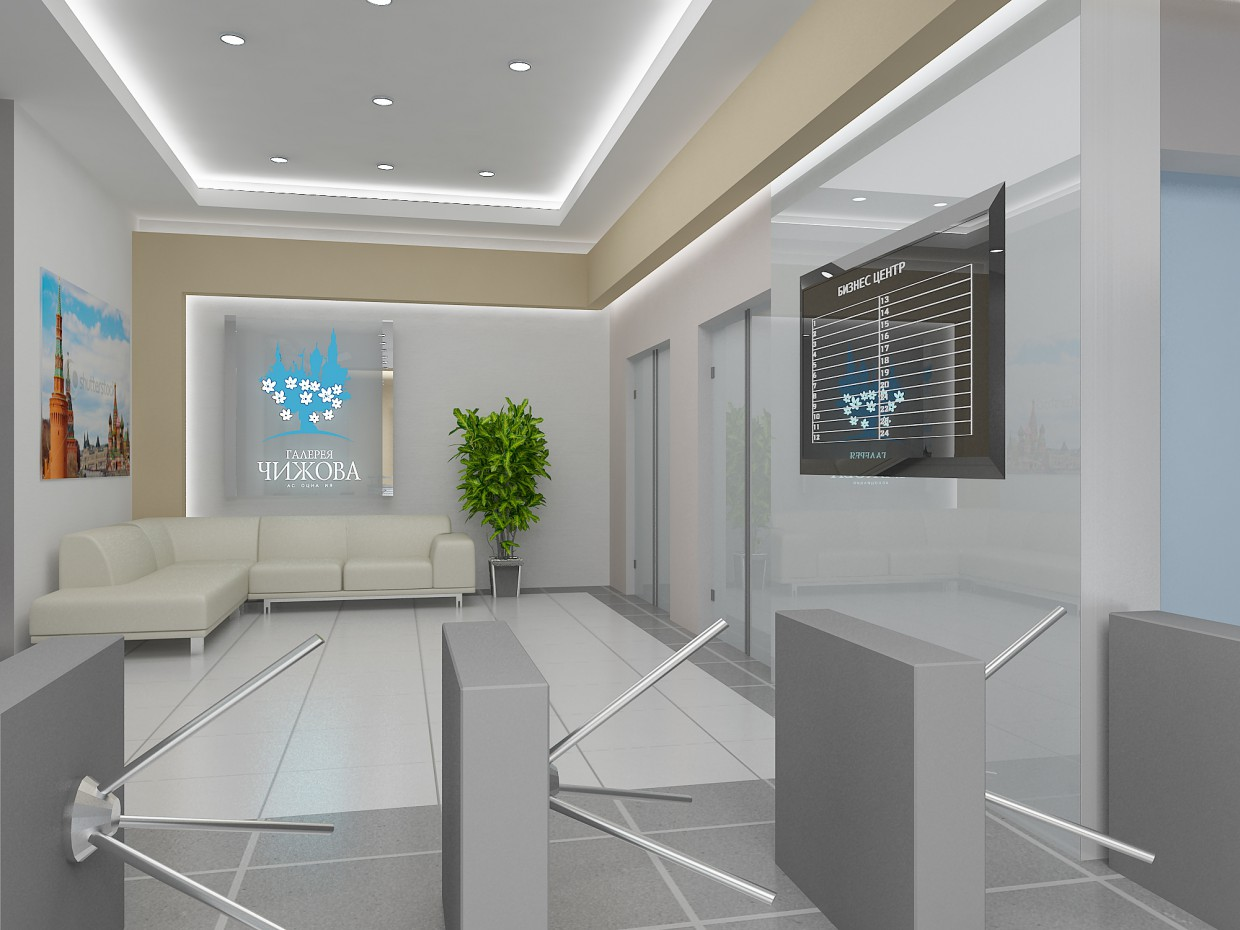 3d visualization of the project in the Business center lobby 3d max, render vray of Полина Ходина