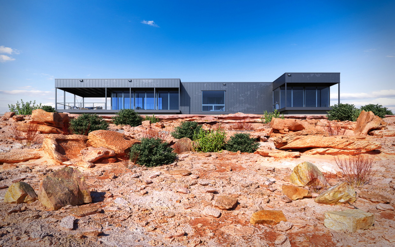 Desert house in 3d max vray 3.0 image