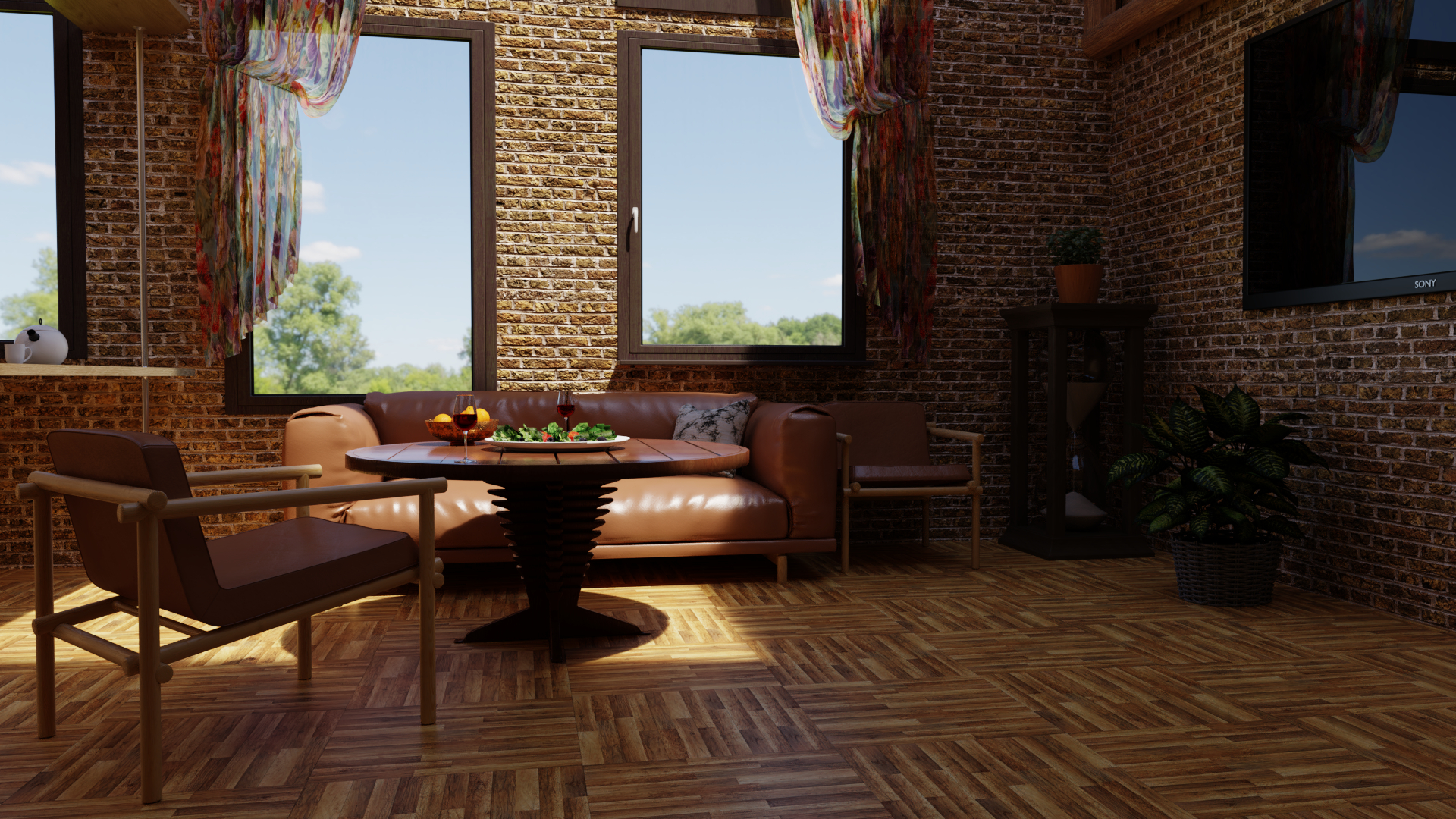 CUISINE LIVING ROOM in Blender cycles render image