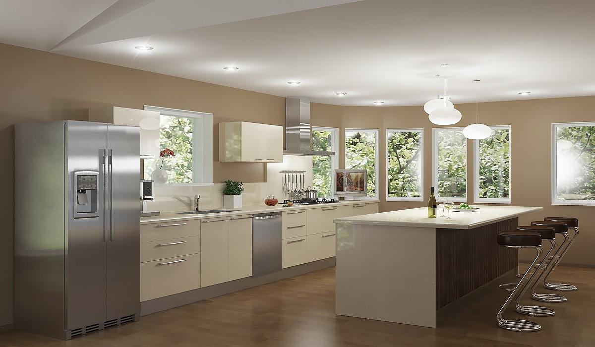 3d визуализация проекта Кухня в 3d max, рендер vray от Alyona