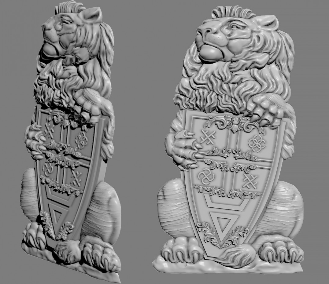 3d visualization of the project in the 3D modeling ZBrush, render Other of Alyona