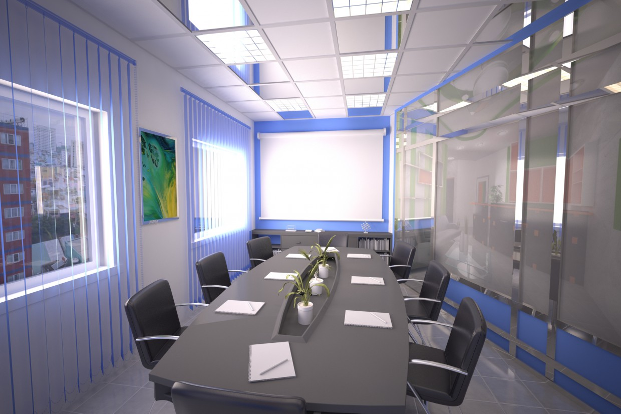 Meeting hall in 3d max vray image