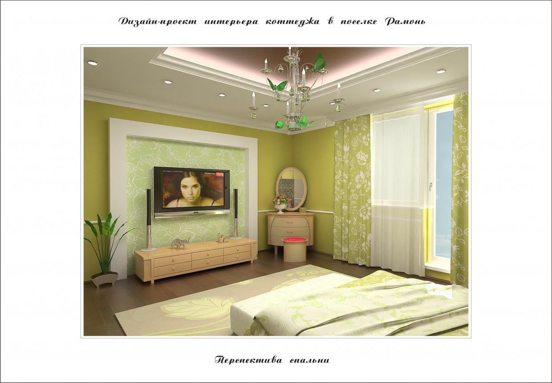 Дизайн спальни в коттедже в 3d max vray изображение