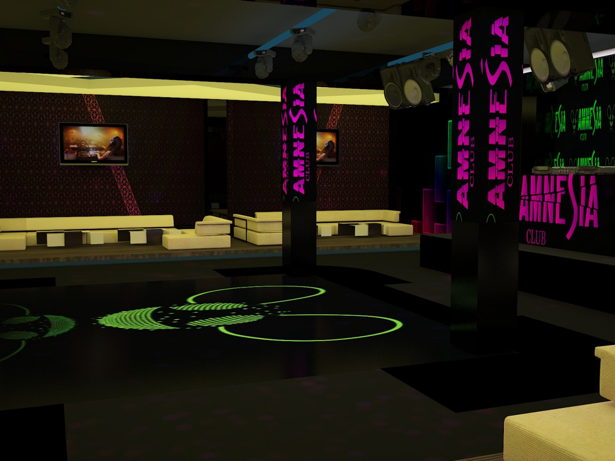 Night Club in 3d max vray image