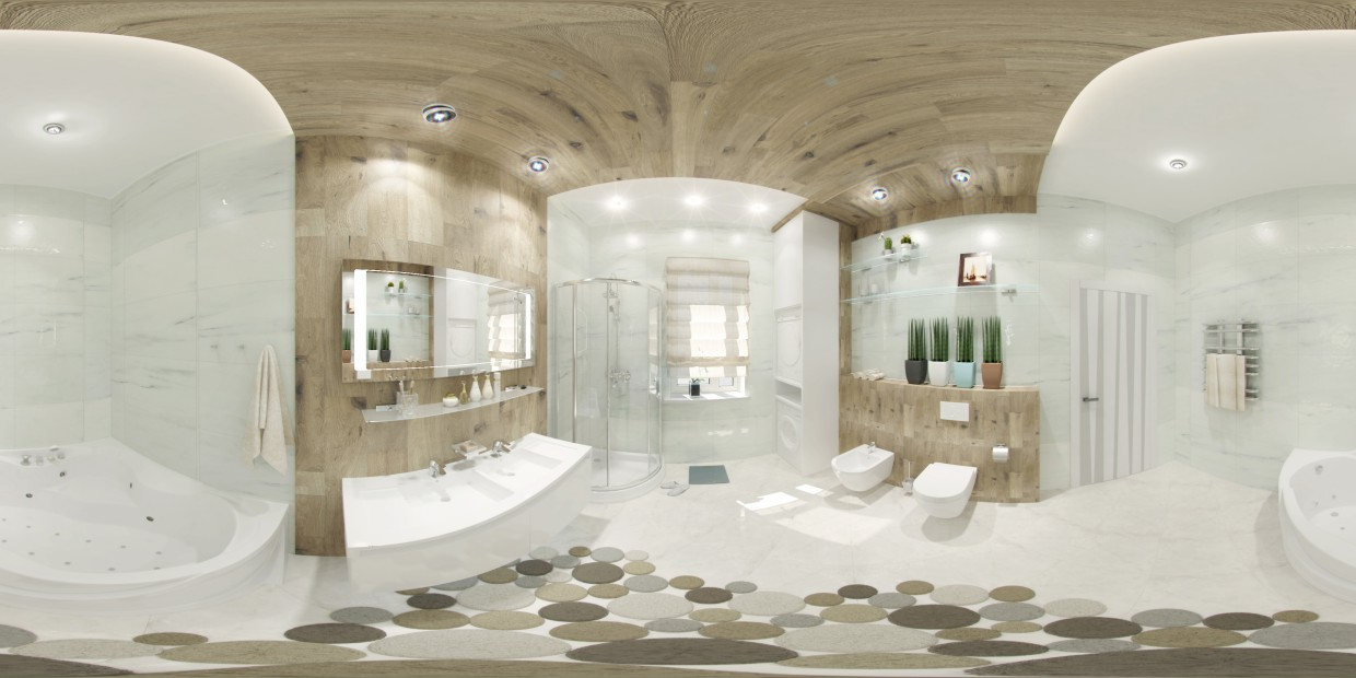 WC 360 panno in 3d max vray image