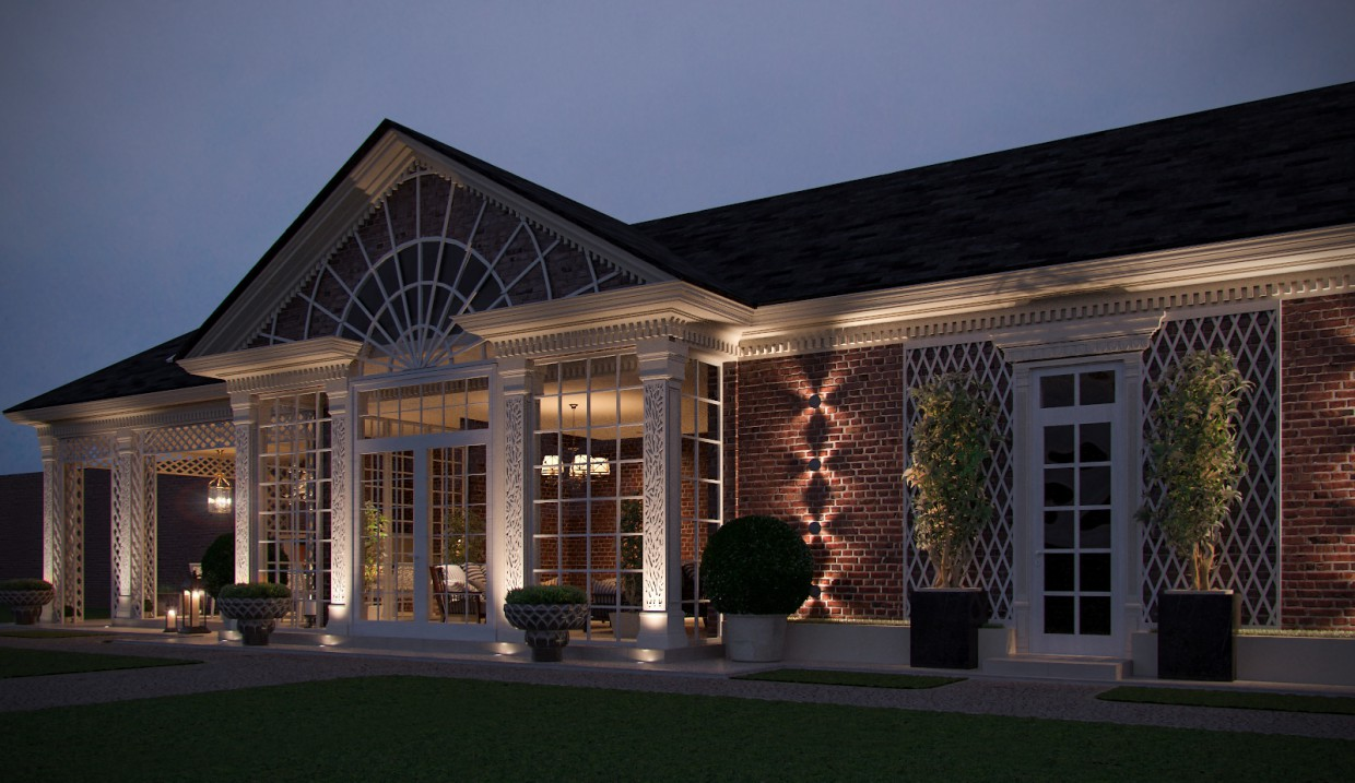 3d visualization of the project in the Gazebo 3d max, render corona render of Conceptvision
