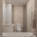 Bathroom visualization in modern style in 3d max vray 1.5 image