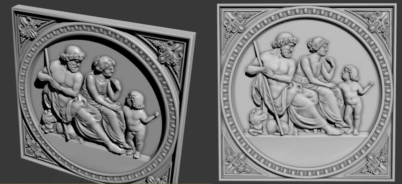 visualización 3D del proyecto en el Bajo relieve ZBrush render Other Alyona
