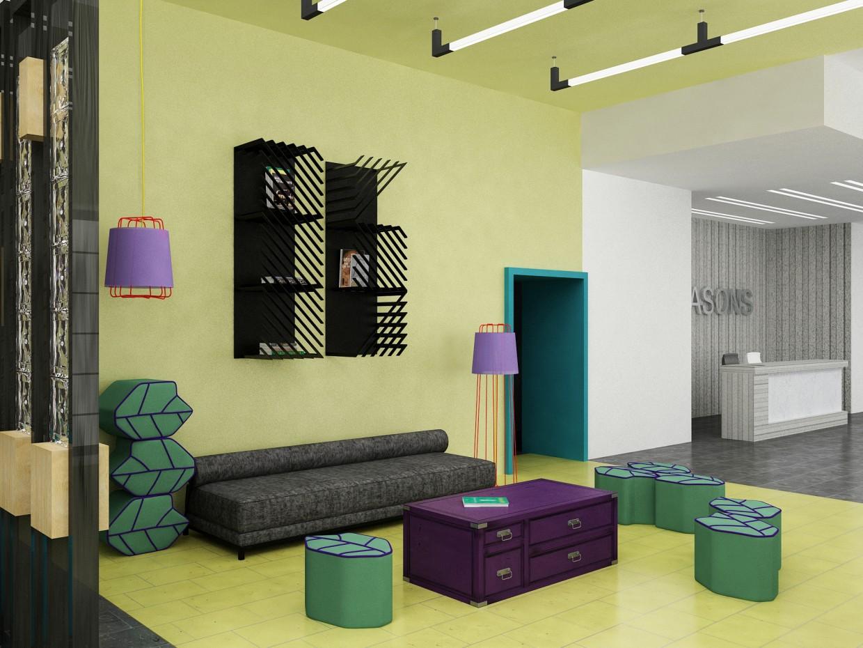 imagen de  Showroom de muebles  en  3d max   vray