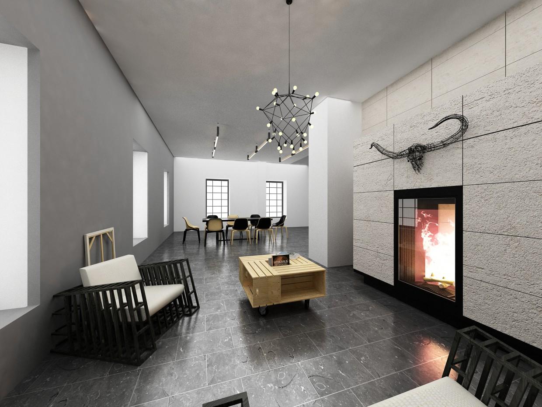 Мебельный шоурум в 3d max vray изображение