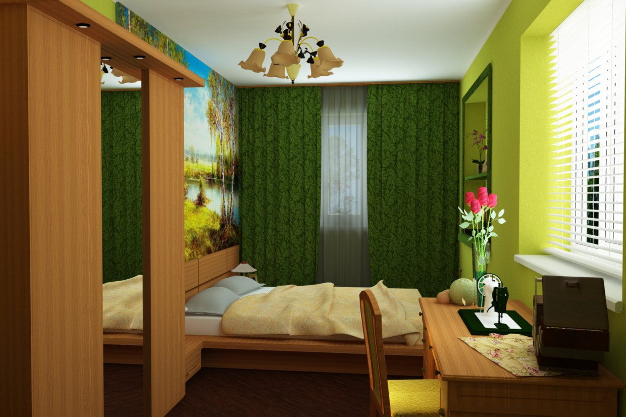 Bedroom reservation in 3d max vray image