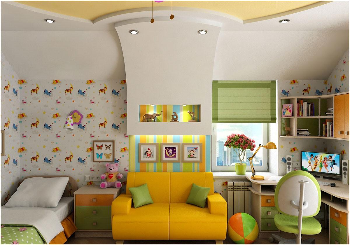 imagen de Dormitorio para niña en 3d max vray