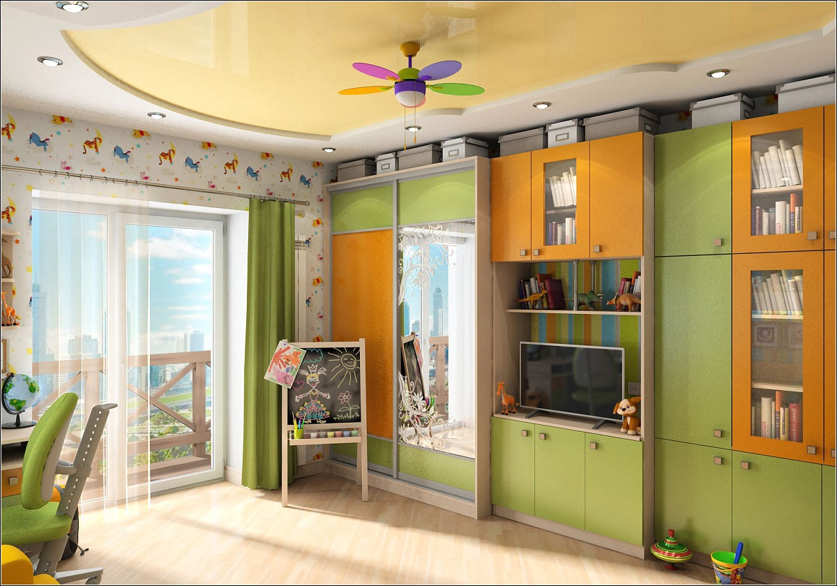 Nursery for girl  in  3d max   vray  image