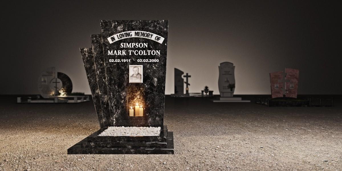 Memorials in 3d max corona render image