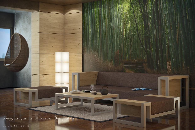 imagen de Sala de relax en 3d max vray