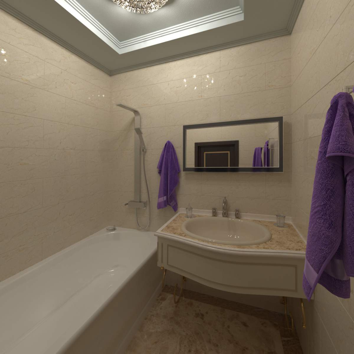 Classic wc in 3d max vray image