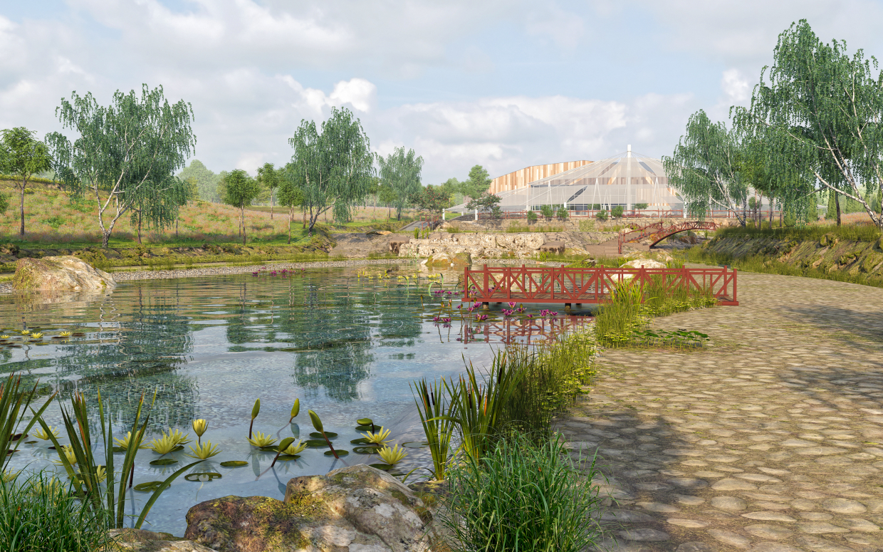 ECOFERMA on an area of 14.5 hectares in 3d max corona render image