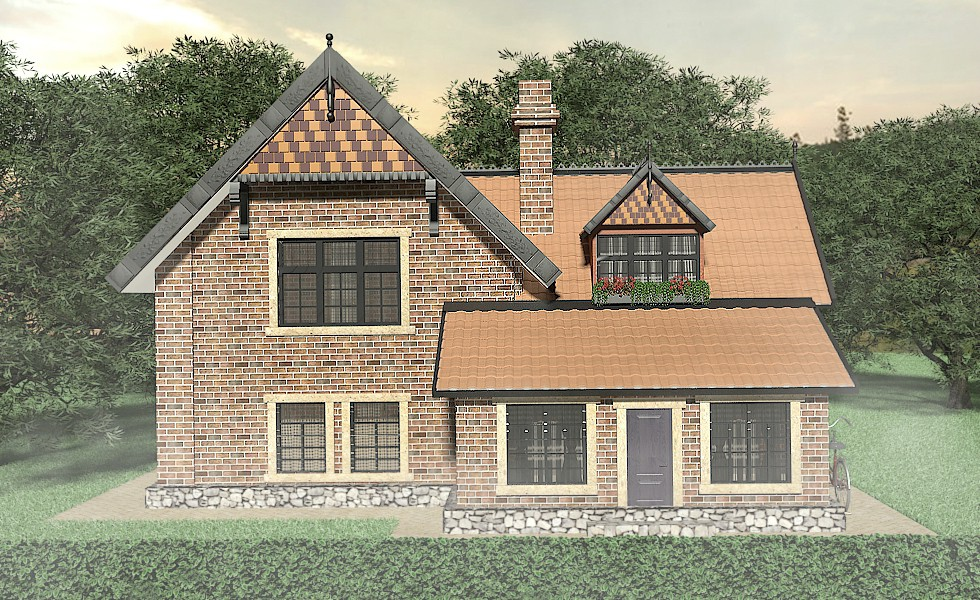 English cottage in 3d max vray 2.5 image