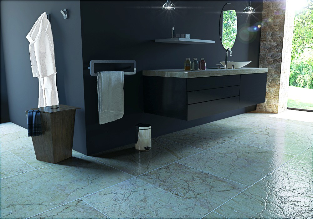 black bath in 3d max vray image