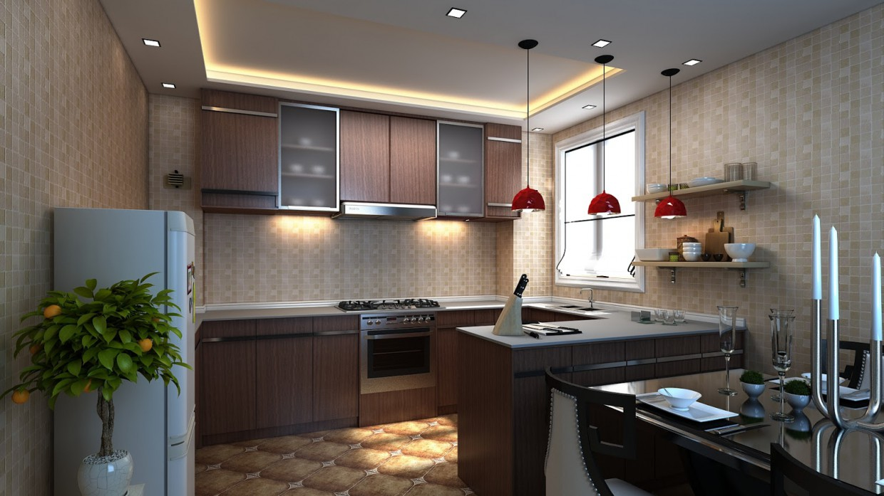 3d Visualization Kitchen Design