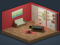 LowPoly living room